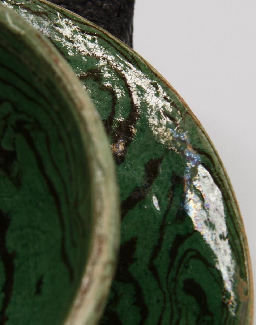 Rare Green Marbled Cupstand - 7