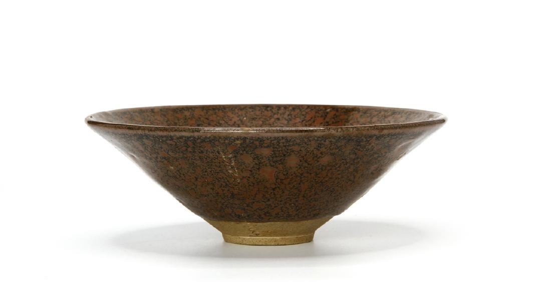 Chinese Henan Russet-Spotted Conical Bowl