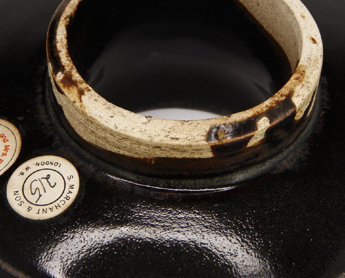 Rare T'su Chou Black-Glazed White-Rimmed Cup Set - 10