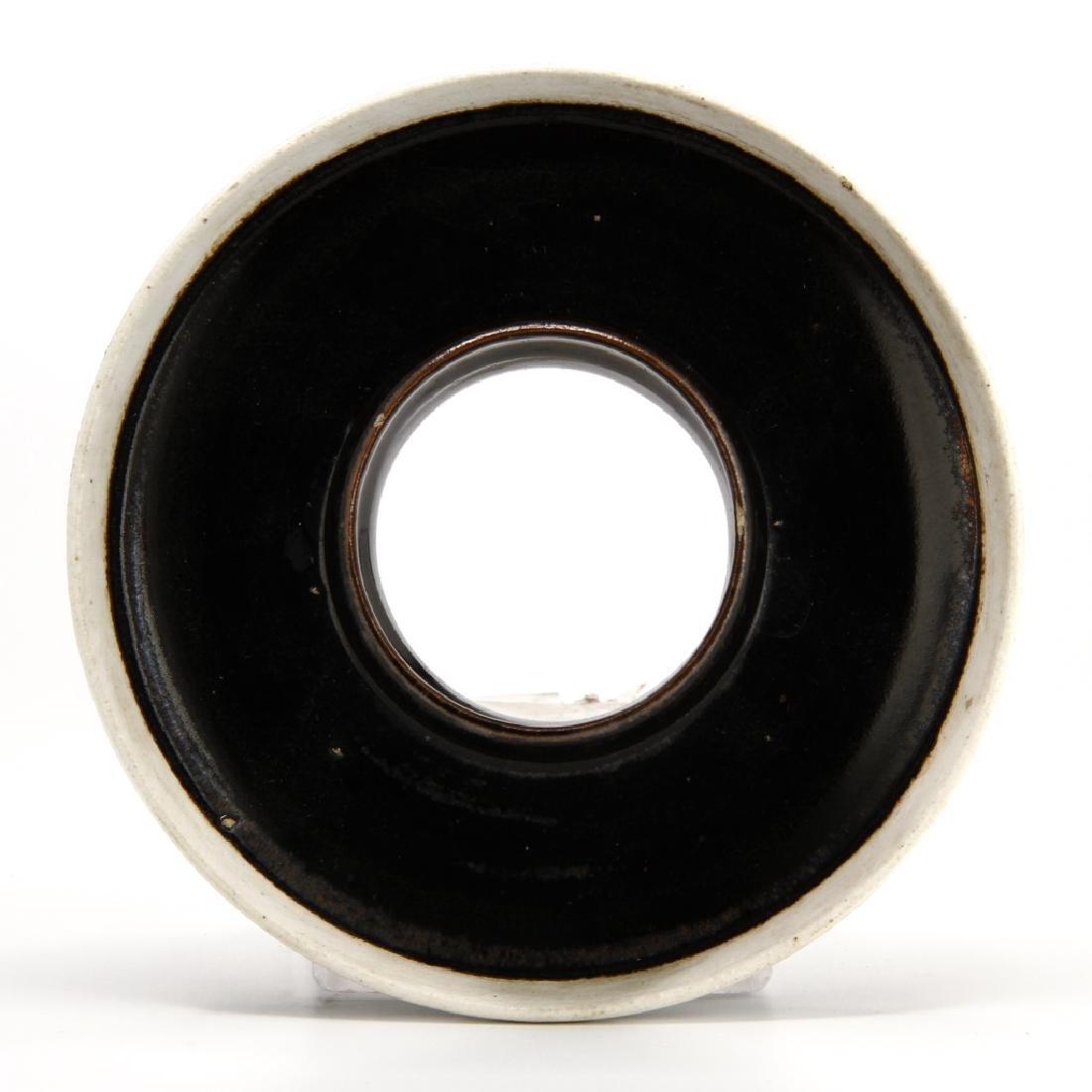 Rare T'su Chou Black-Glazed White-Rimmed Cup Set - 6