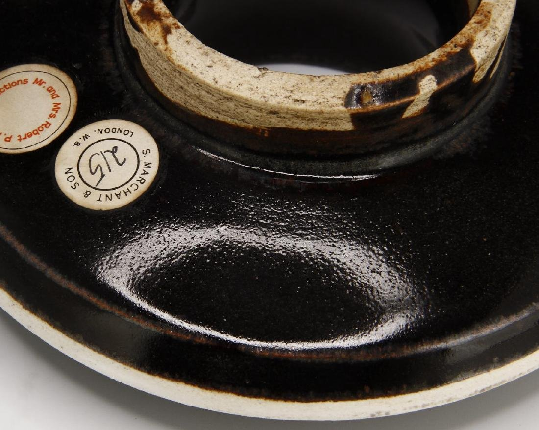 Rare T'su Chou Black-Glazed White-Rimmed Cup Set - 9