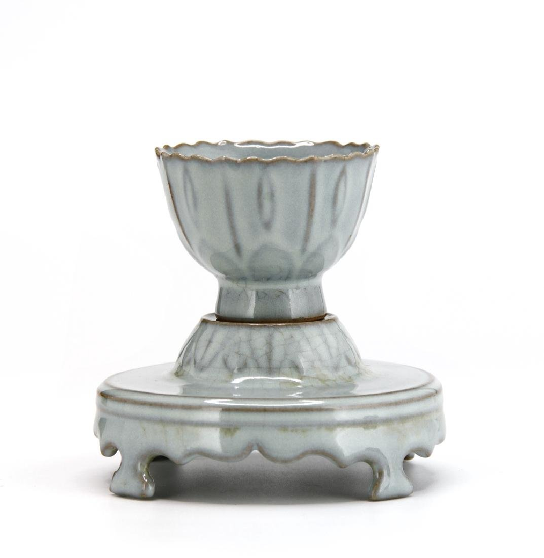 Rare Guan-Type Cup and Cupstand