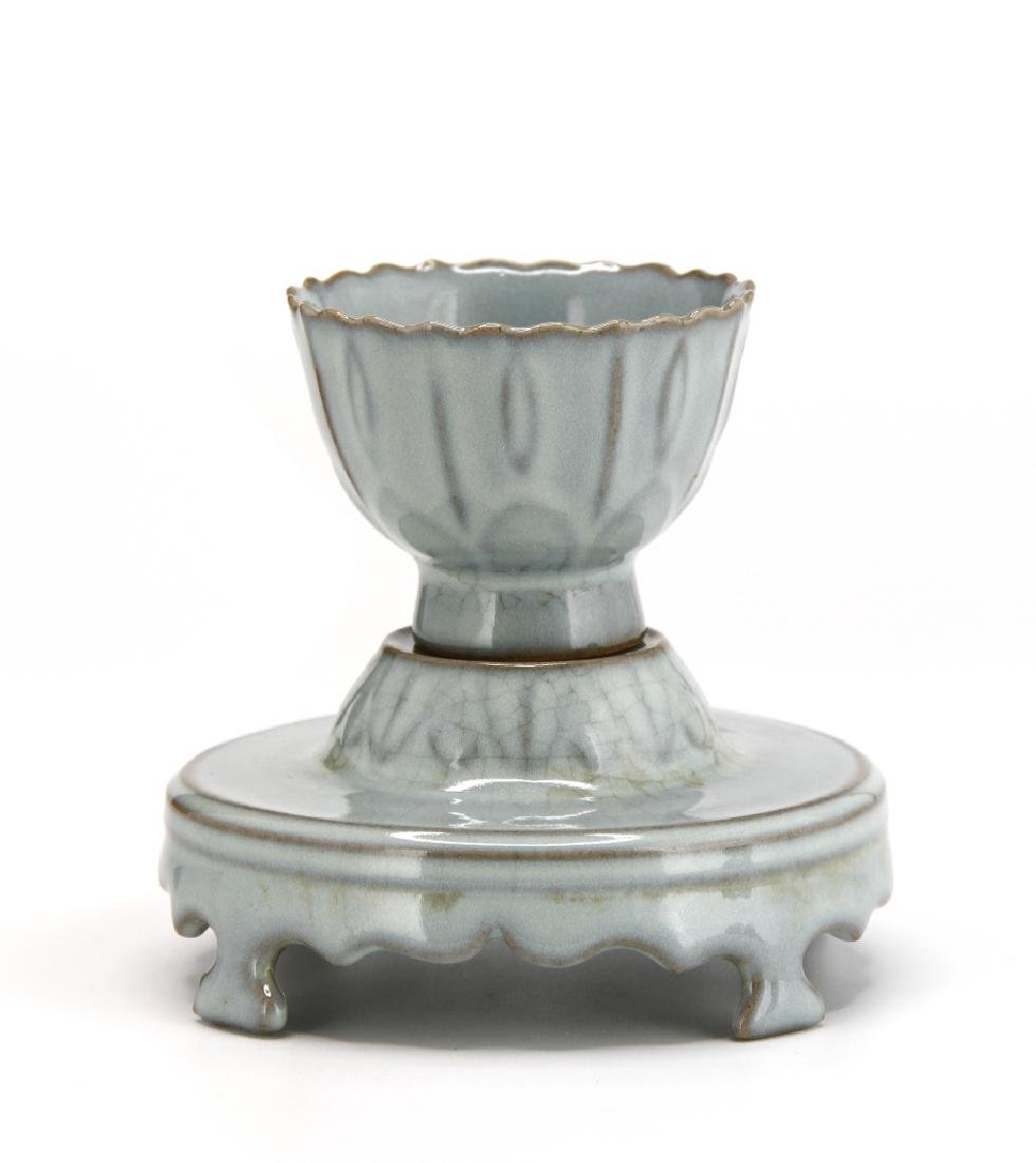Rare Guan-Type Cup and Cupstand - 9