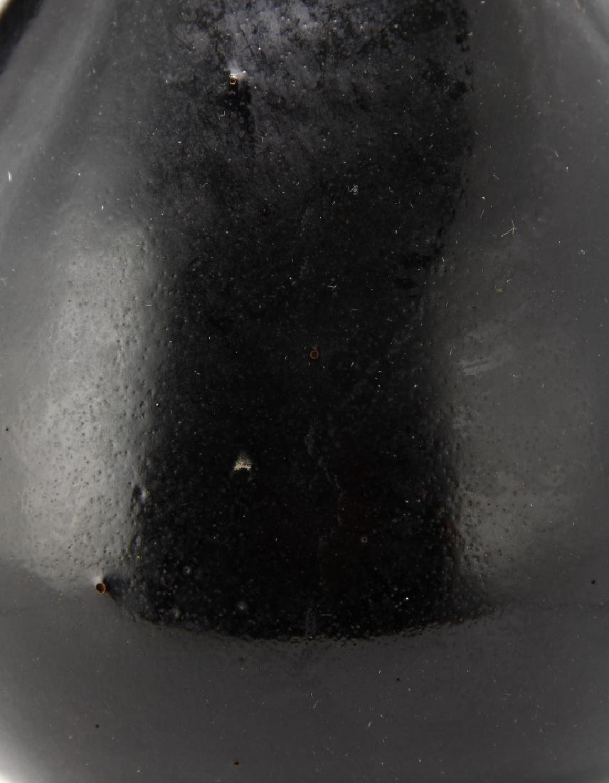 Rare T'su-Chou Black Glazed Vase - 4