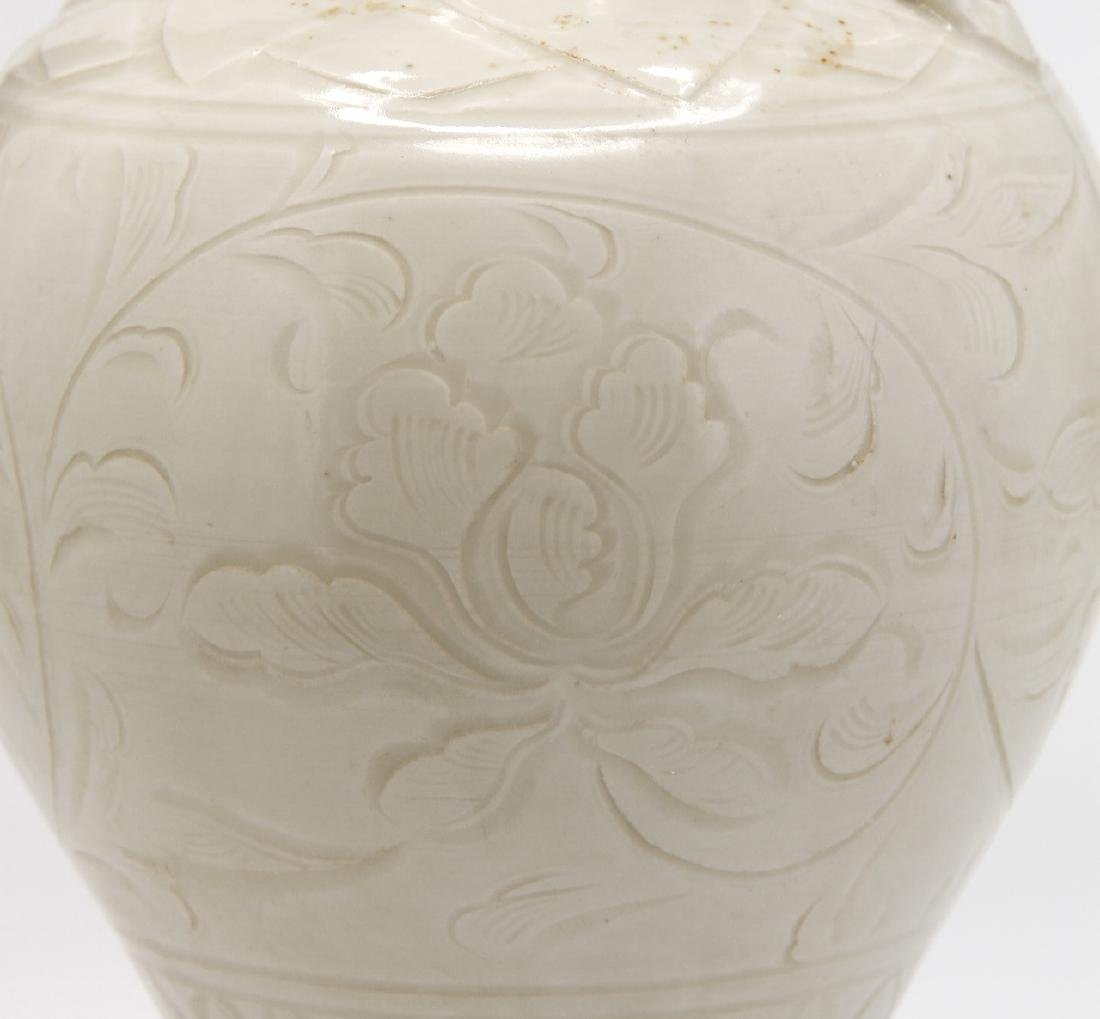 Chinese Carved Ting Ware Baluster Vase - 5