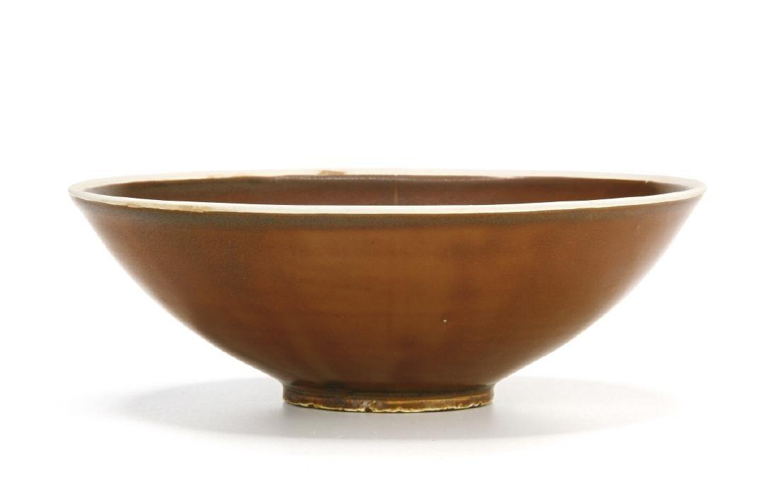 Ting Persimmon Glazed Petal Bowl
