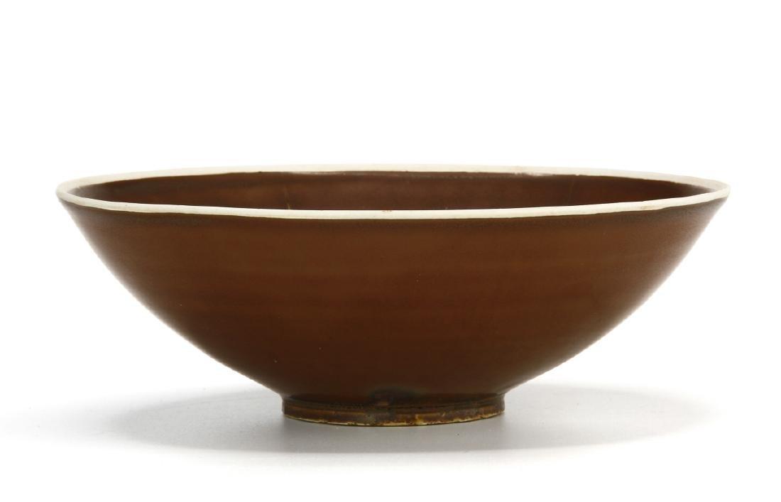 Ting Persimmon Glazed Petal Bowl - 2