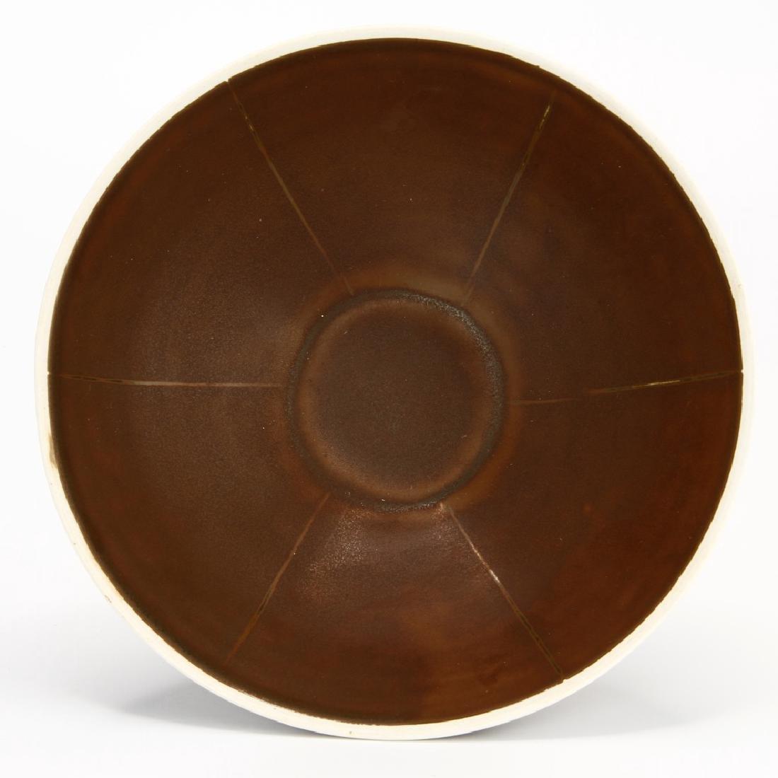 Ting Persimmon Glazed Petal Bowl - 3
