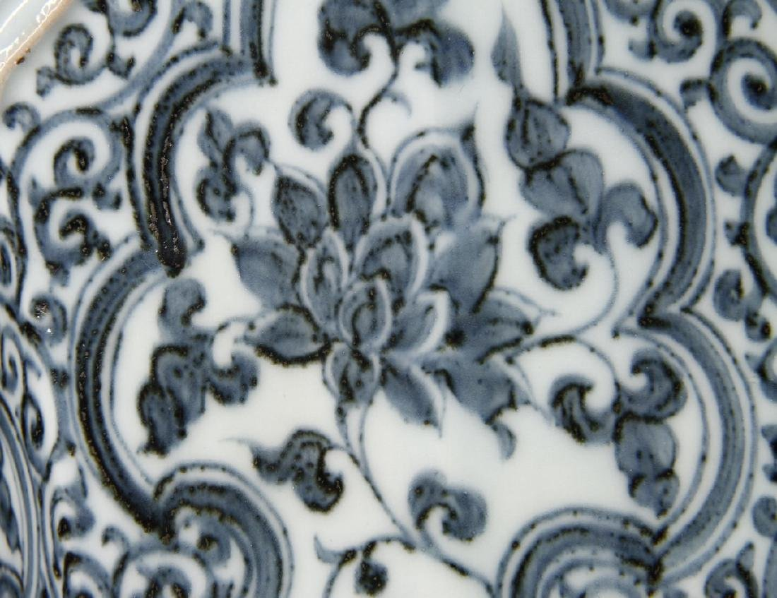 Large Blue/White Faceted Baluster Vase, Ming - 20