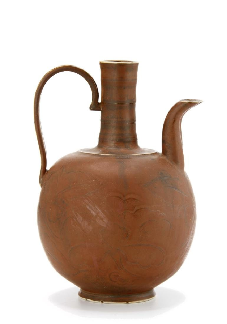 Chinese Persimmon Glazed Ting Ewer - 3