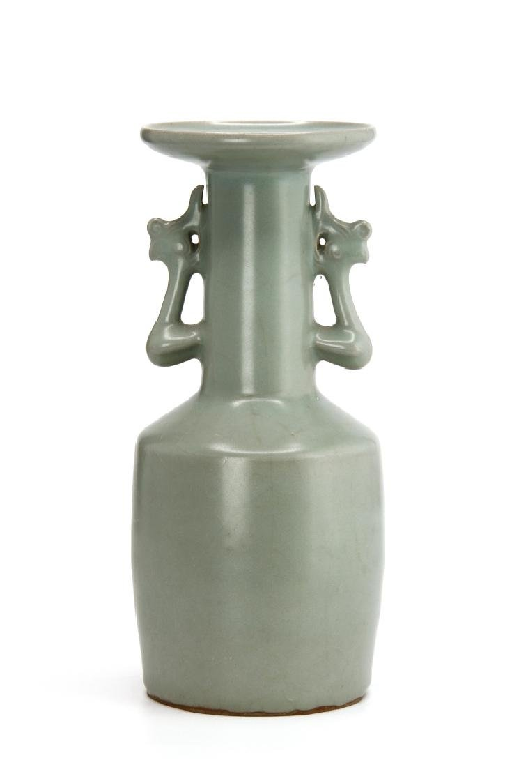Rare Lungchuan Celadon Kinuta Vase