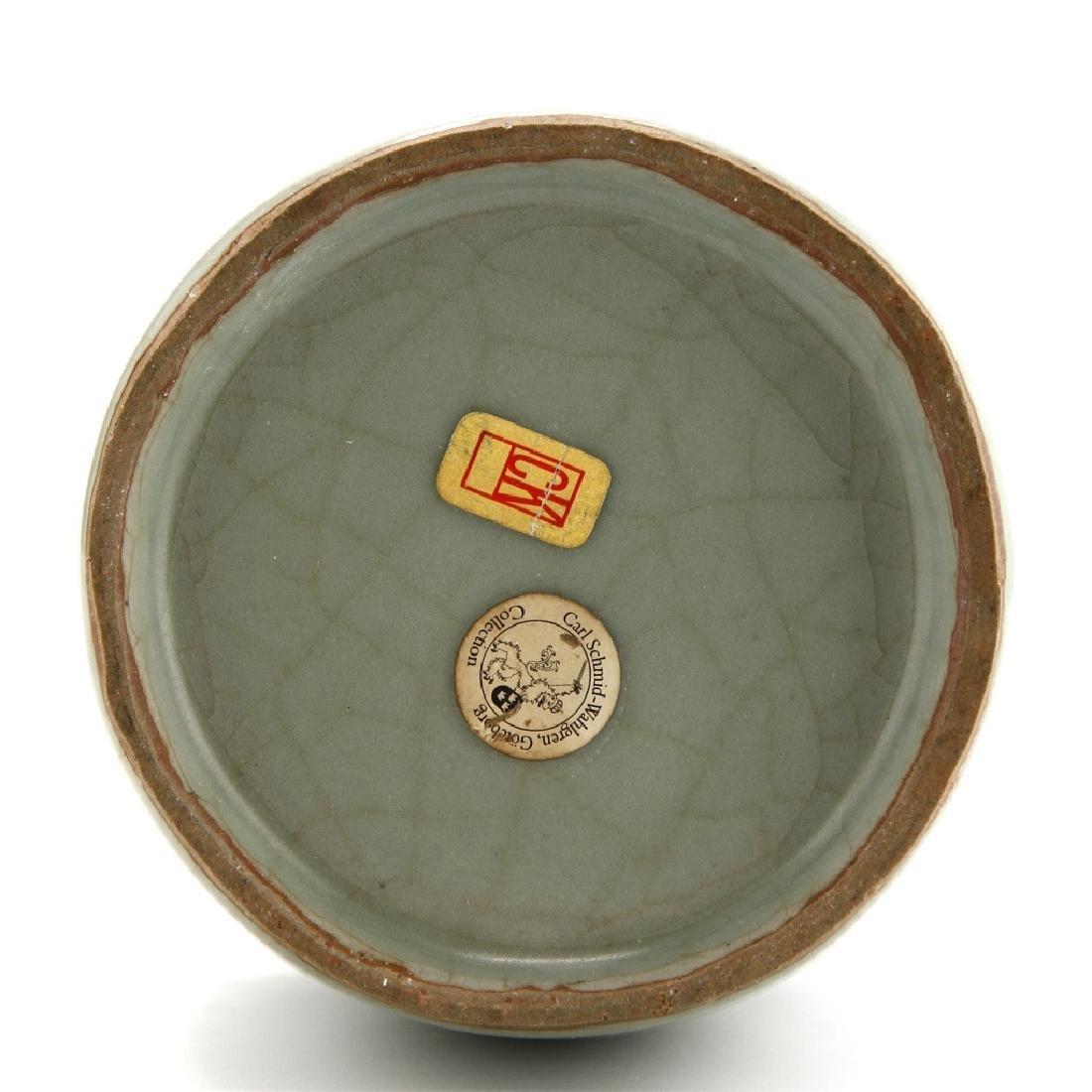 Rare Lungchuan Celadon Kinuta Vase - 8