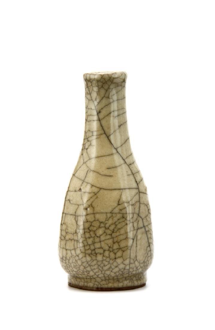 Chinese Crackle Glazed Bottle Vase
