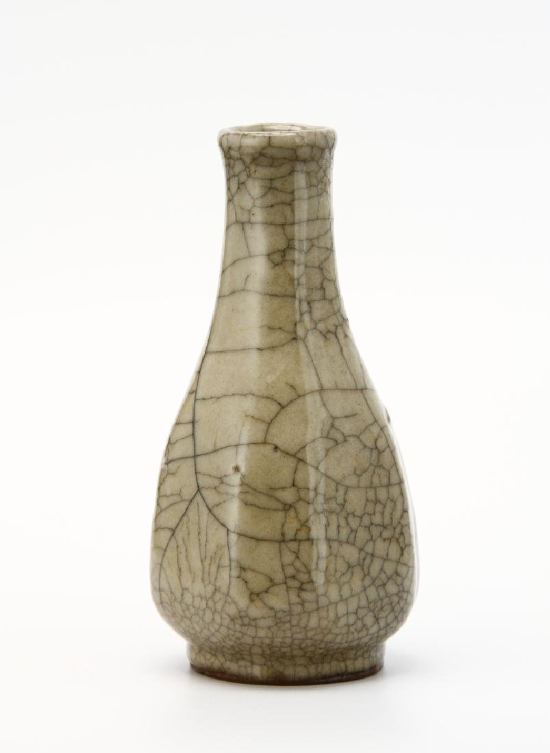 Chinese Crackle Glazed Bottle Vase - 2