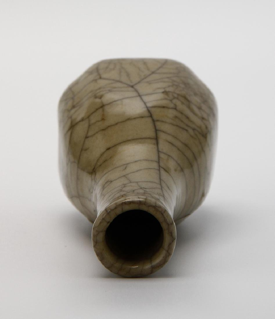 Chinese Crackle Glazed Bottle Vase - 4