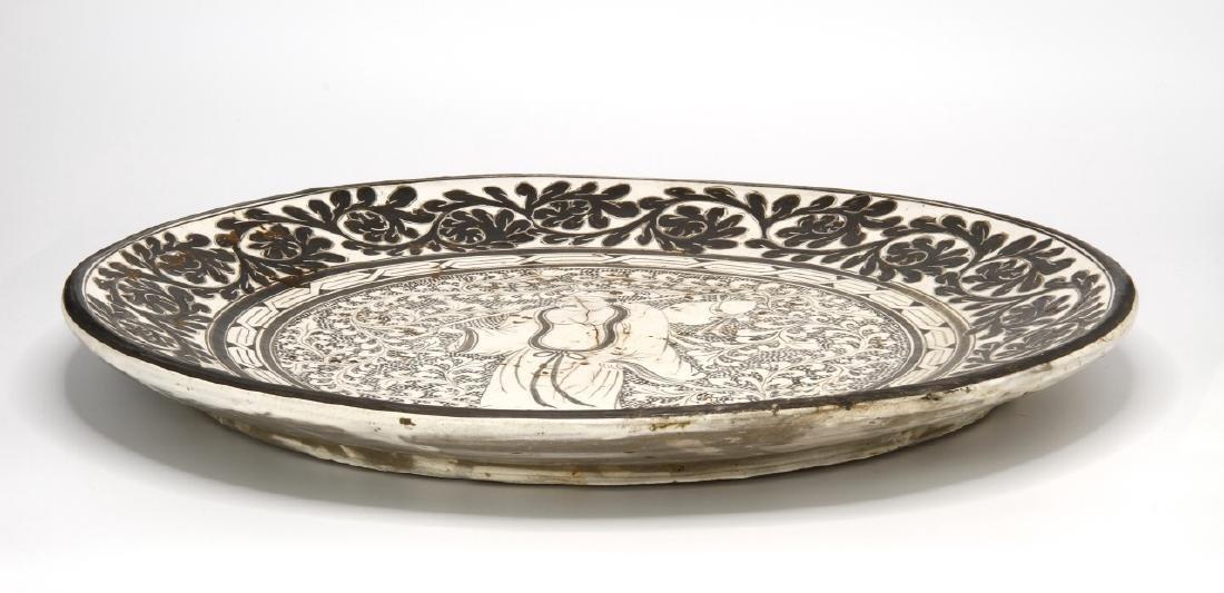 Large T'su-Chou Sagraffiato Dish - 8