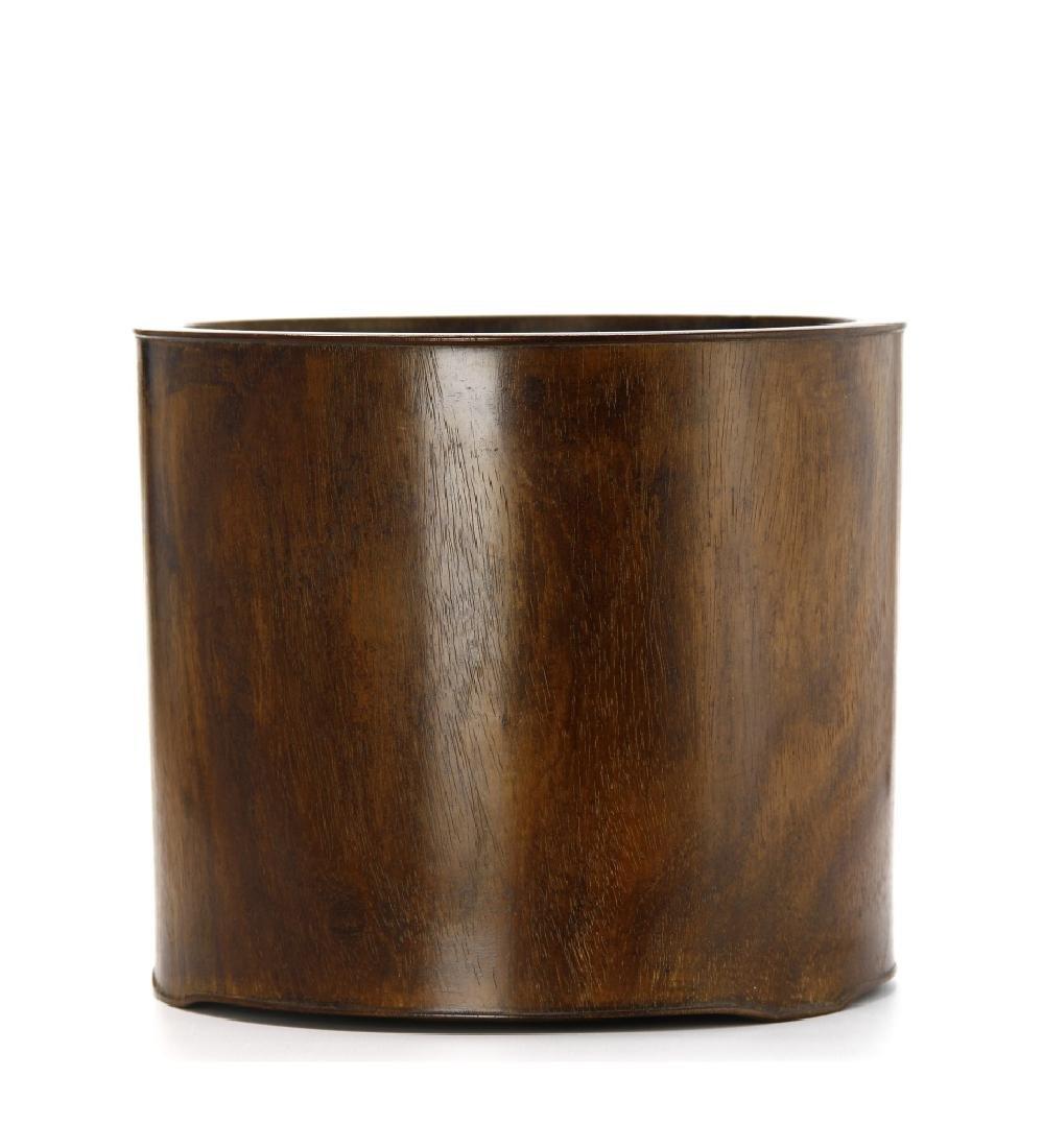 Large Hardwood Brushpot, 18th Century