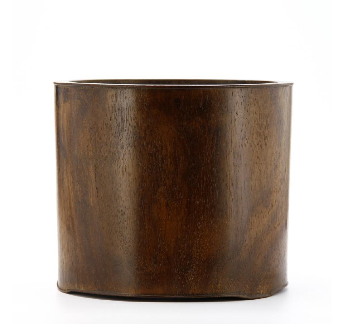 Large Hardwood Brushpot, 18th Century - 2