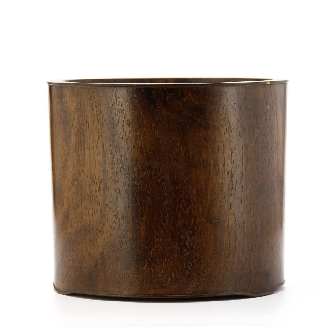 Large Hardwood Brushpot, 18th Century - 3