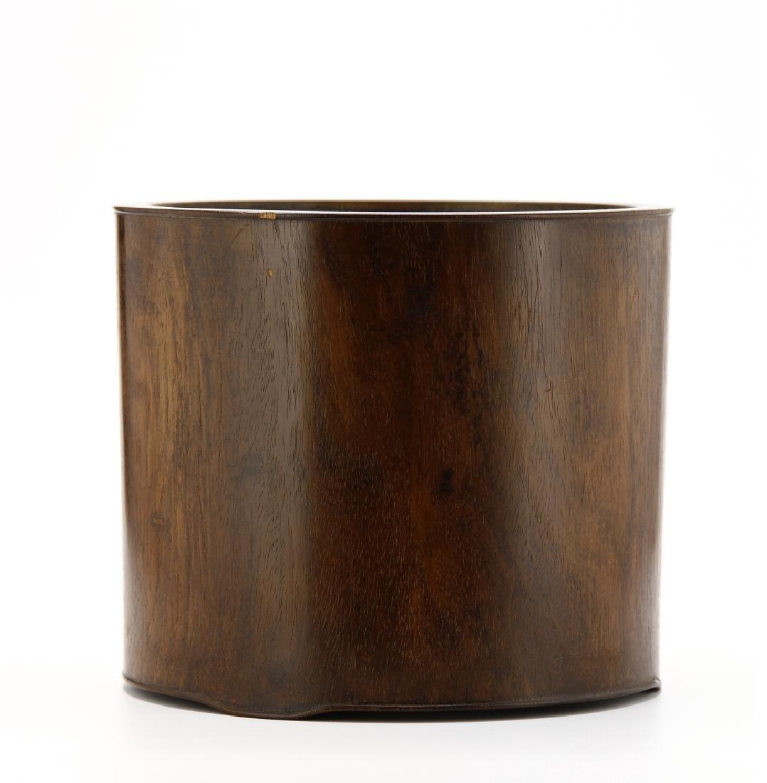 Large Hardwood Brushpot, 18th Century - 4