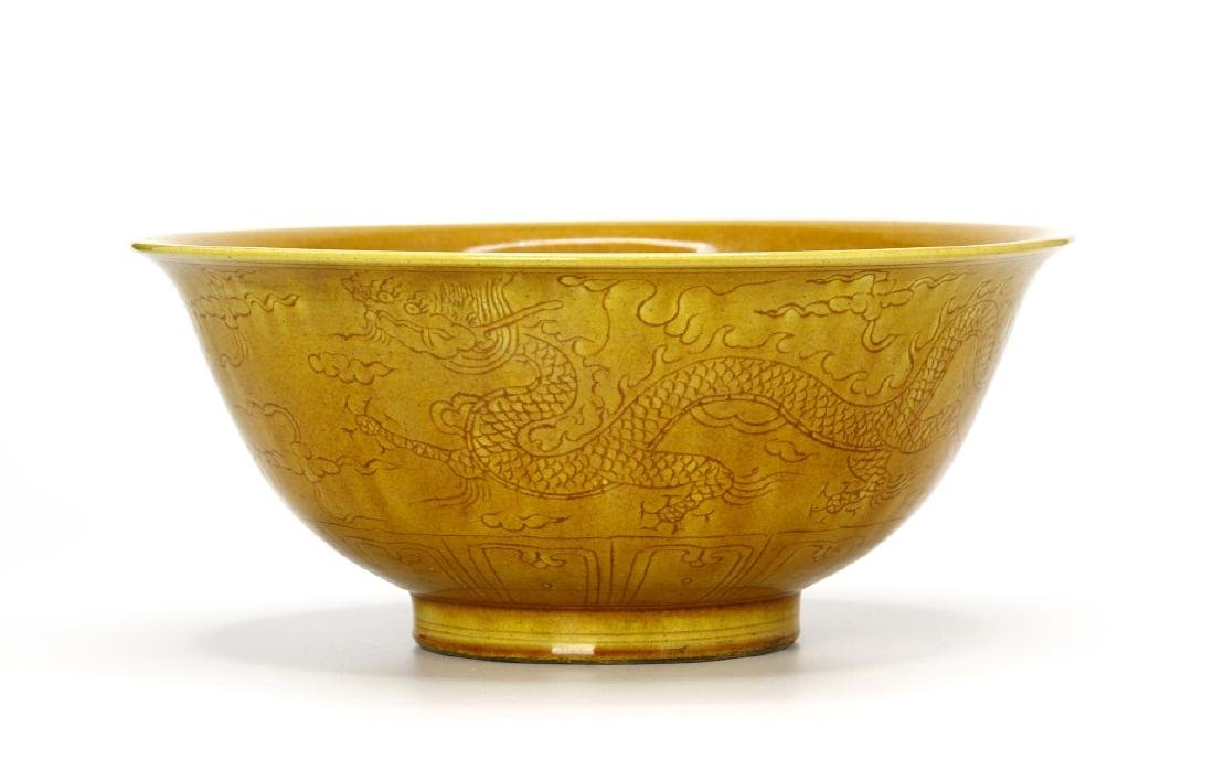 Chinese Yellow Glazed Bowl