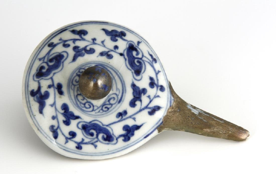 Ming Style Blue and White Monk's Cap Ewer - 11