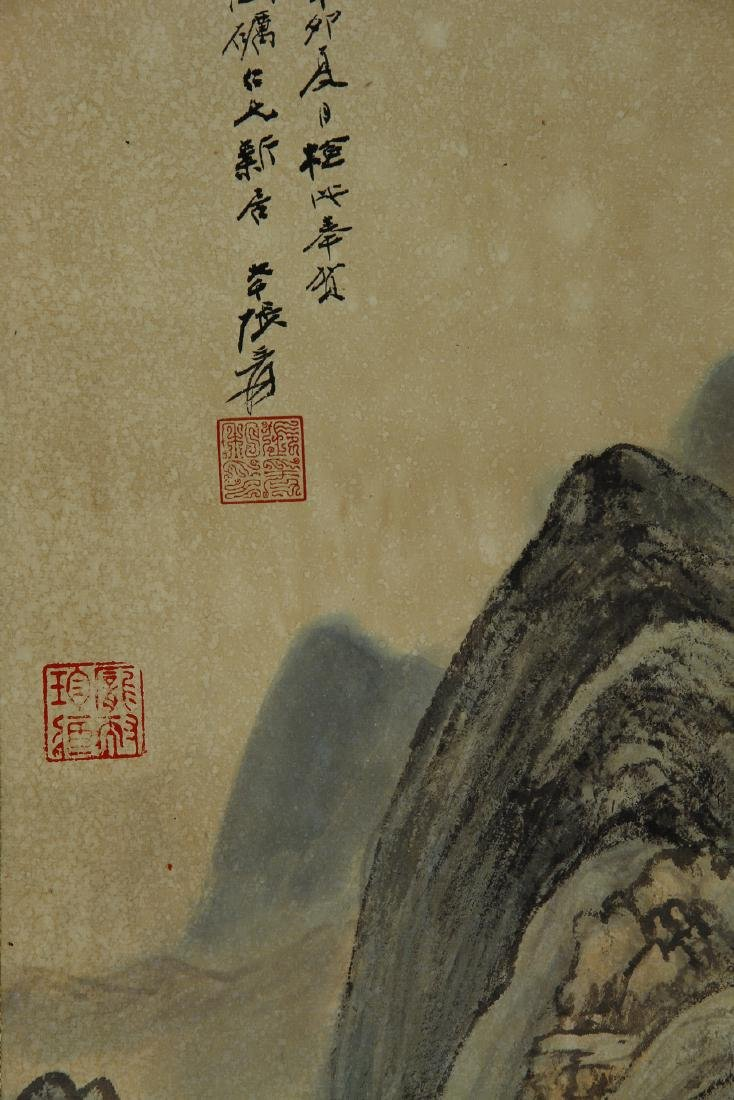 Chinese Landscape Hanging Scroll - 5