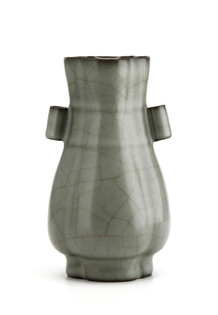 "Lungchuan Guan-Type Quatre-Lobed ""Hu"" vase"