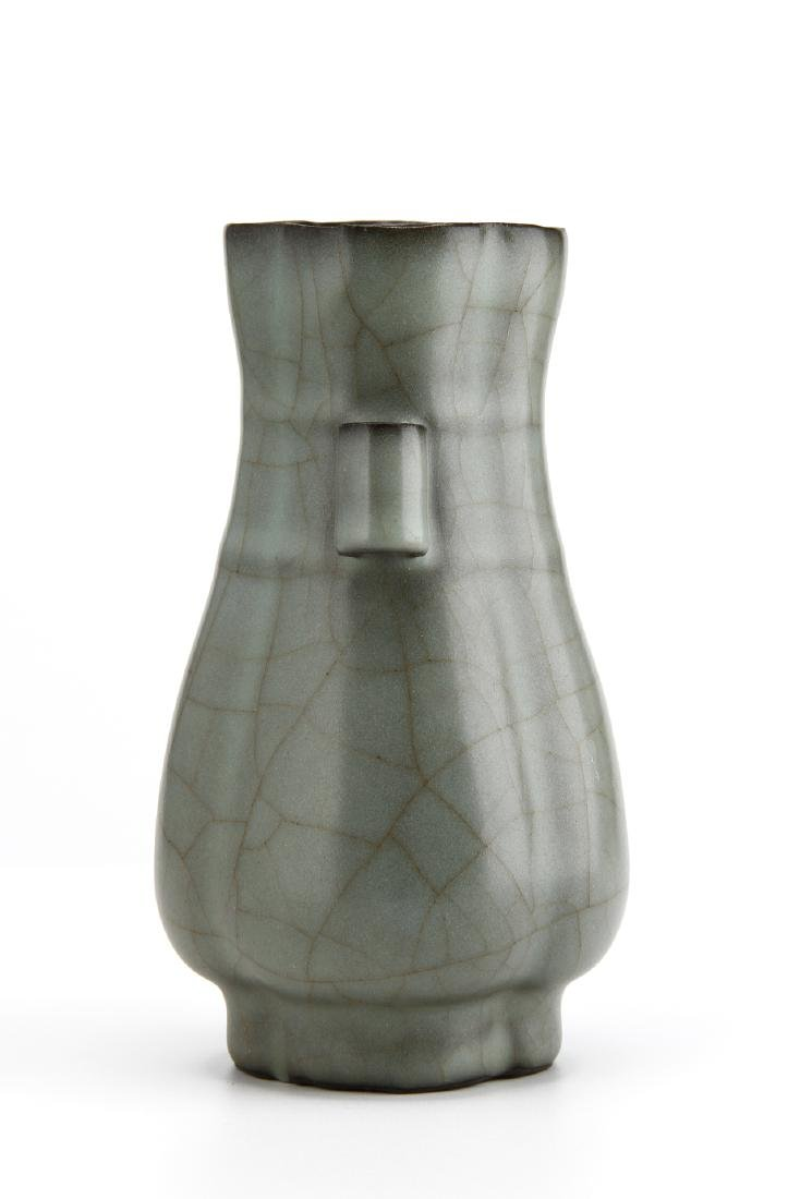 "Lungchuan Guan-Type Quatre-Lobed ""Hu"" vase - 2"