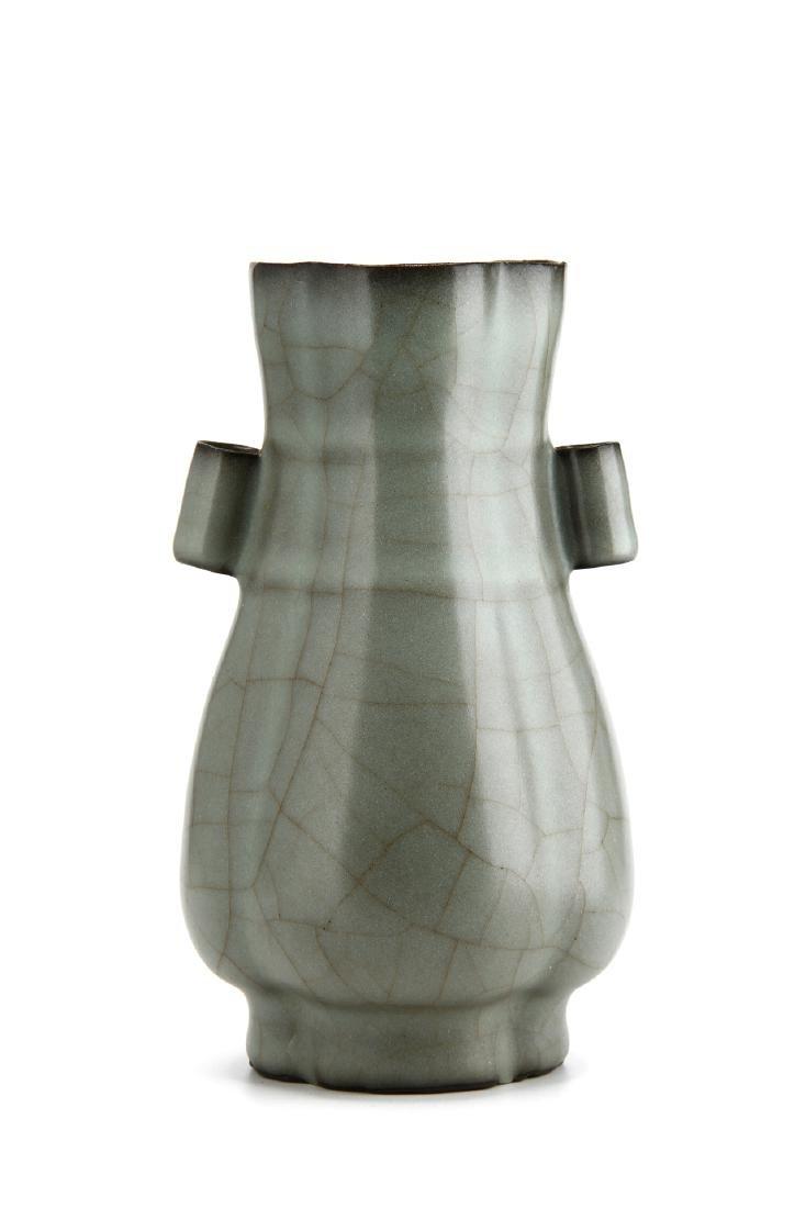 "Lungchuan Guan-Type Quatre-Lobed ""Hu"" vase - 3"