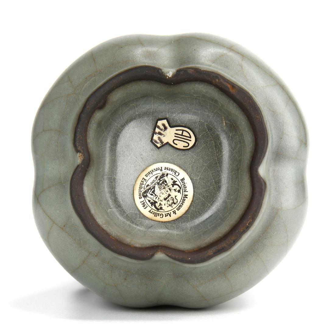 "Lungchuan Guan-Type Quatre-Lobed ""Hu"" vase - 8"