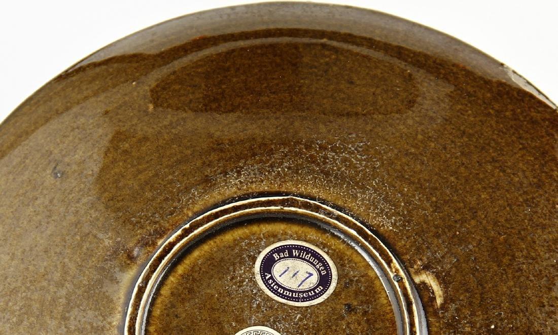 Molded Golden Purple Glaze Ting Dragon Dish - 6