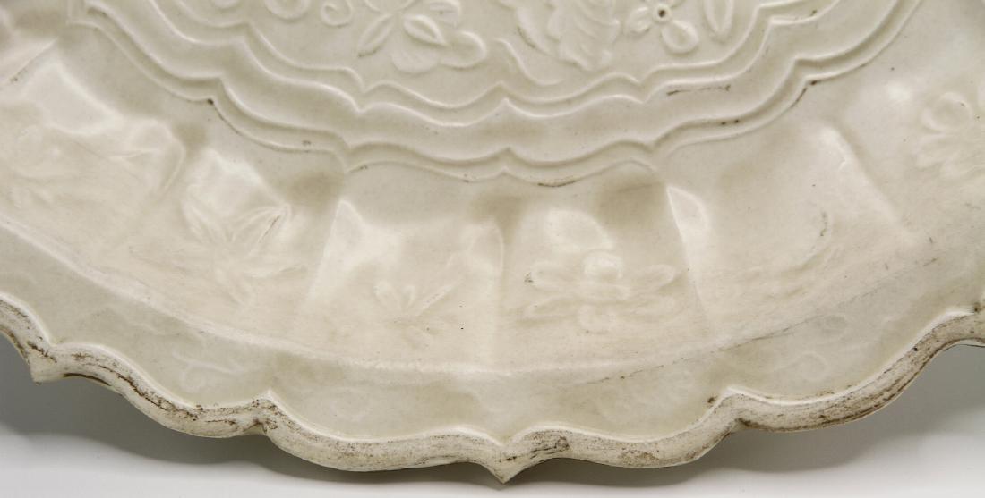 Large Tingyao Molded Foliate-Rim Dish - 5