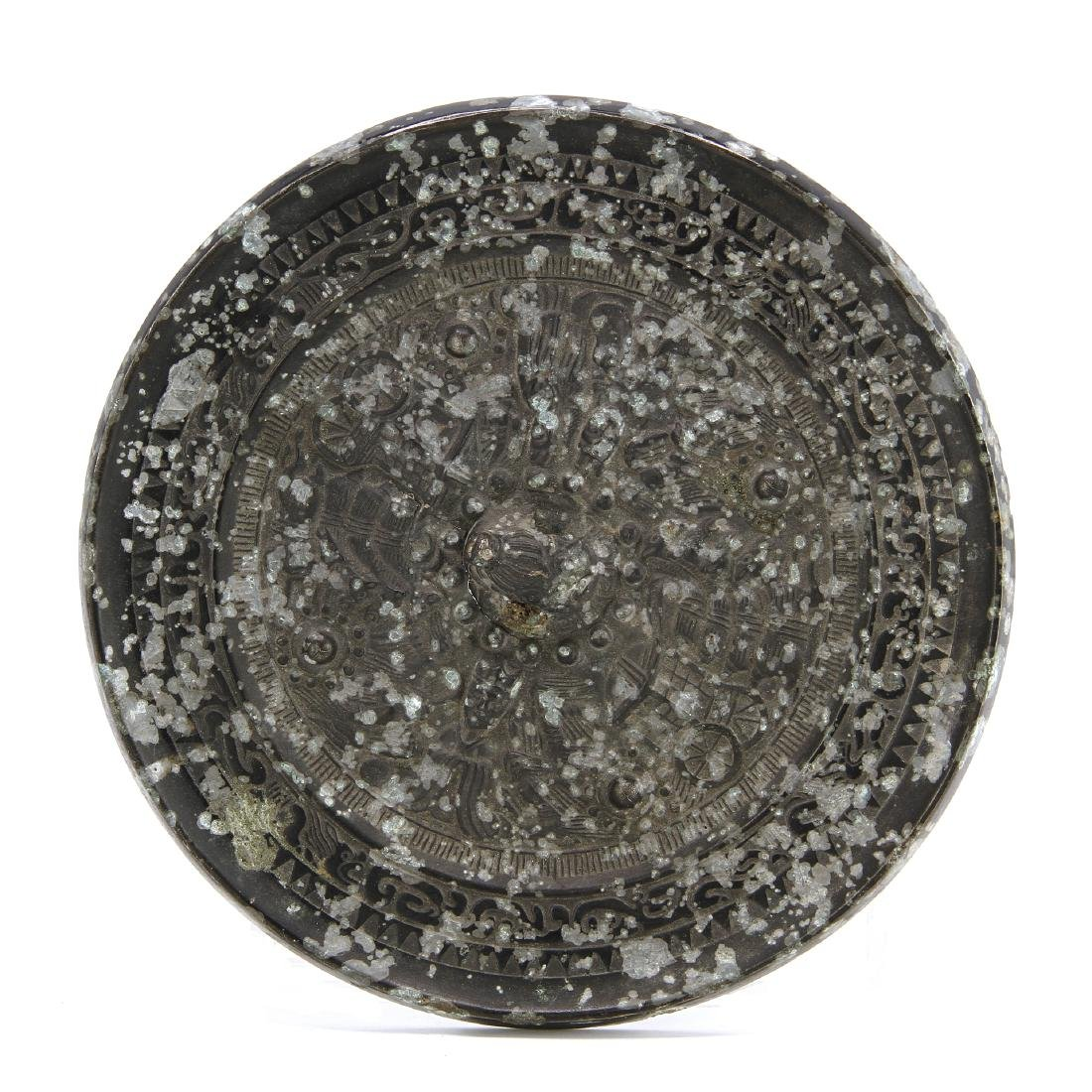 Large Bronze Mirror