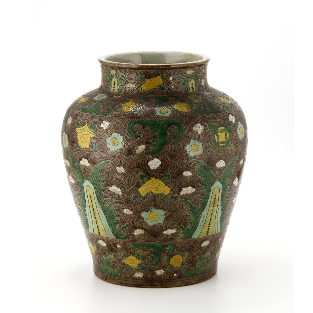 Large Famille Verte Jar and Cover - 4