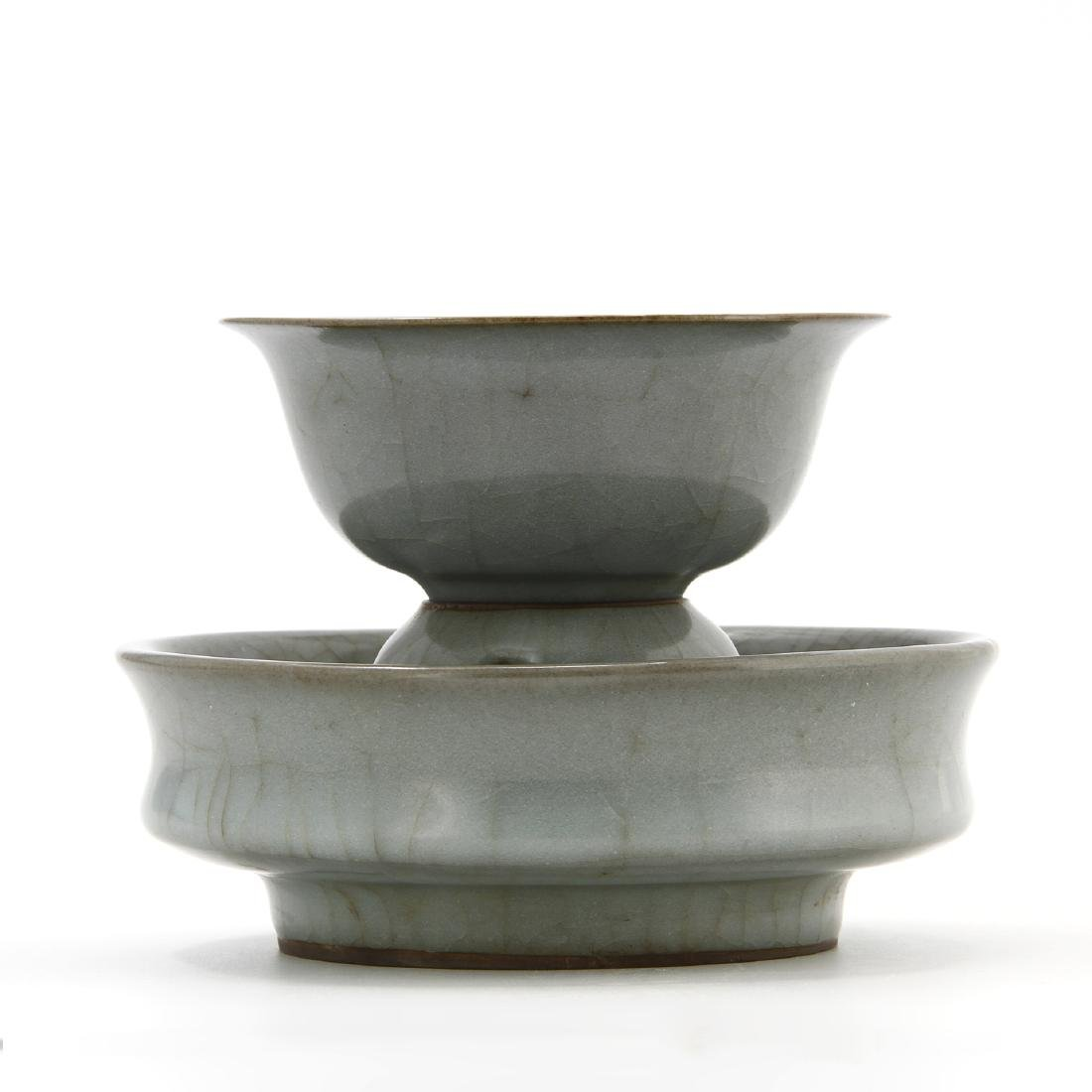 Rare Lungchuan Guan-Type Cupstand/Cup