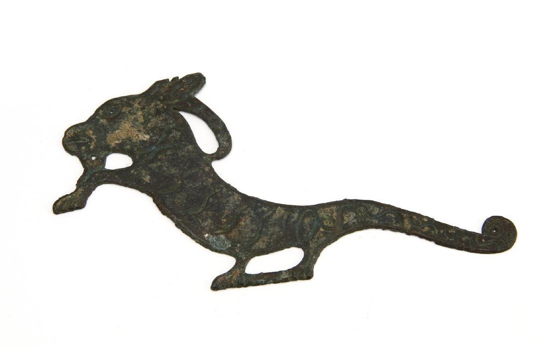 Rare Bronze Ram Ornament