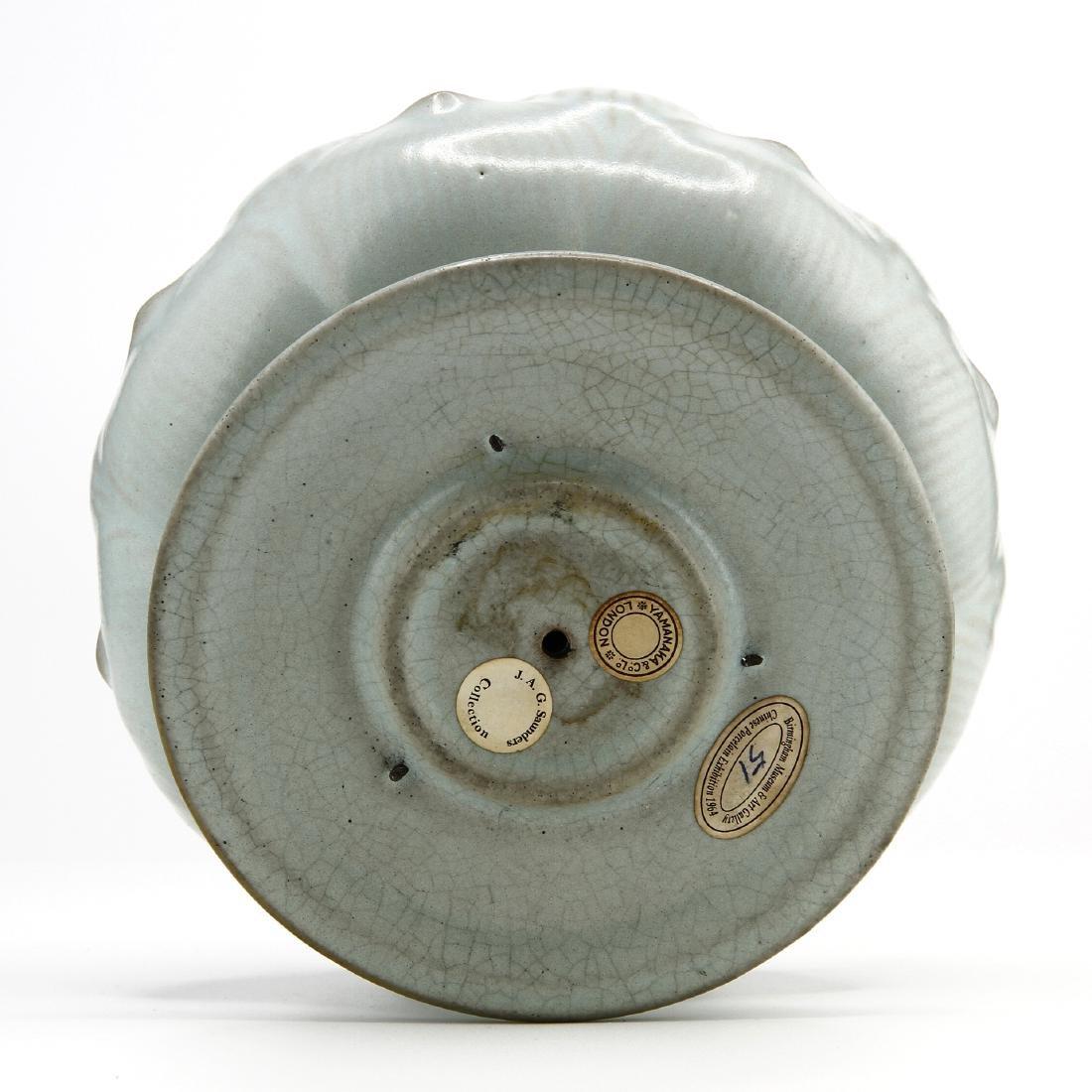Rare Guan-Type Lotus Form Incense Burner/Cover - 7