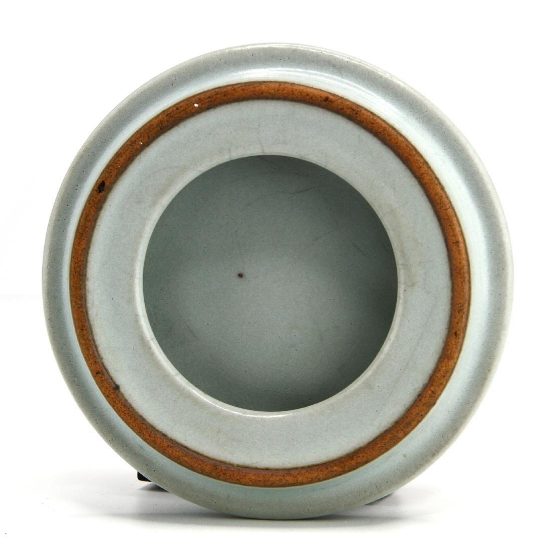 Rare Guan-Type Lotus Form Incense Burner/Cover - 9