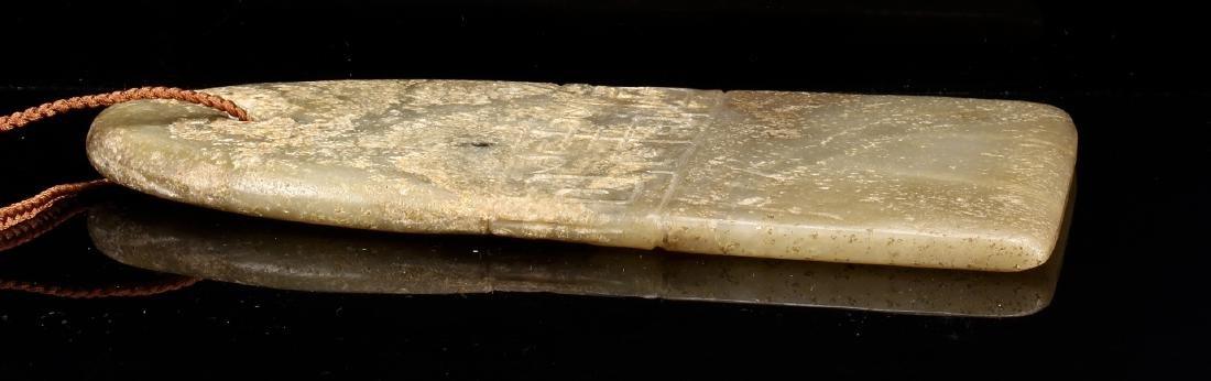Celadon Jade Blade Pendant - 4