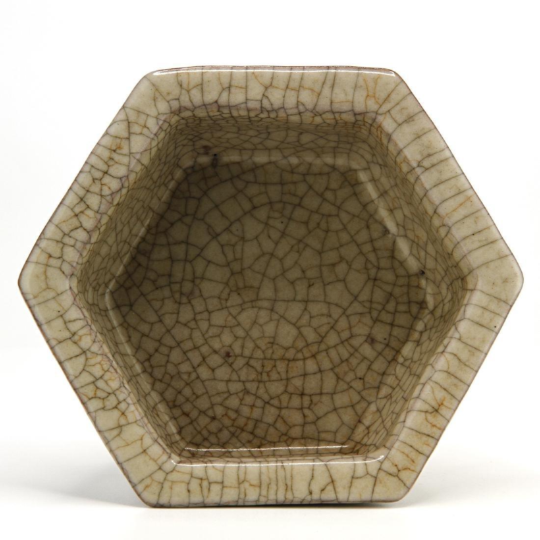 Rare Ko Ware Hexagon Brushwasher - 5