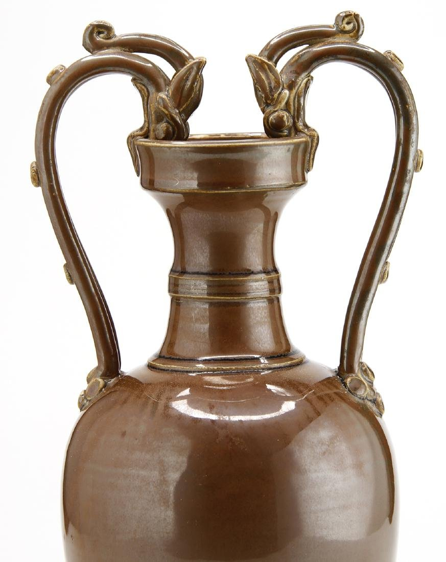 Persimmon Glaze Ting Double-Dragon Handle Ewer - 5