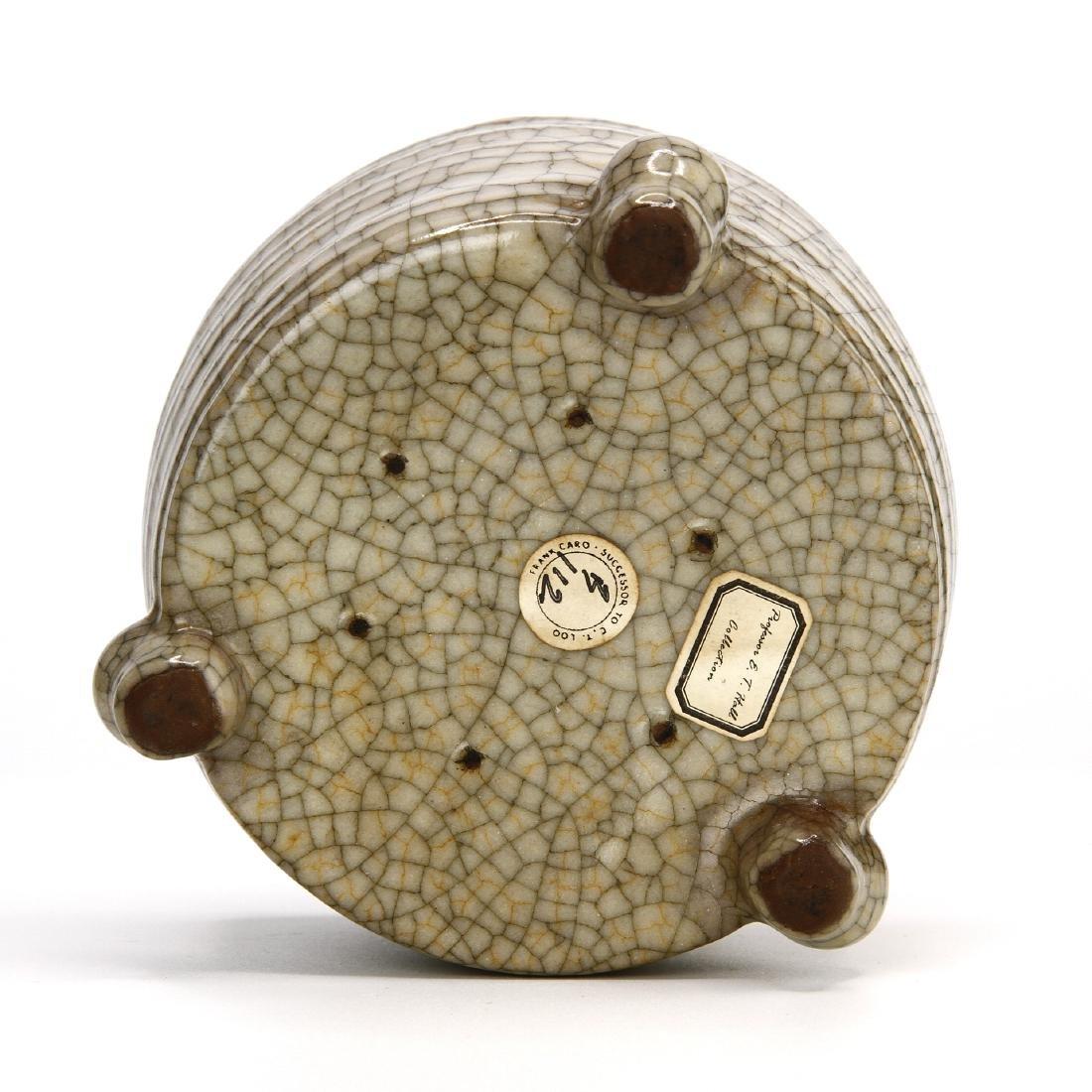 Chinese Crackle Glazed Ko-Type Tripod Censer - 9