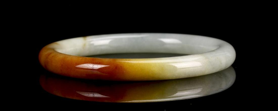 Pale Celadon Jadeite Bangle - 3