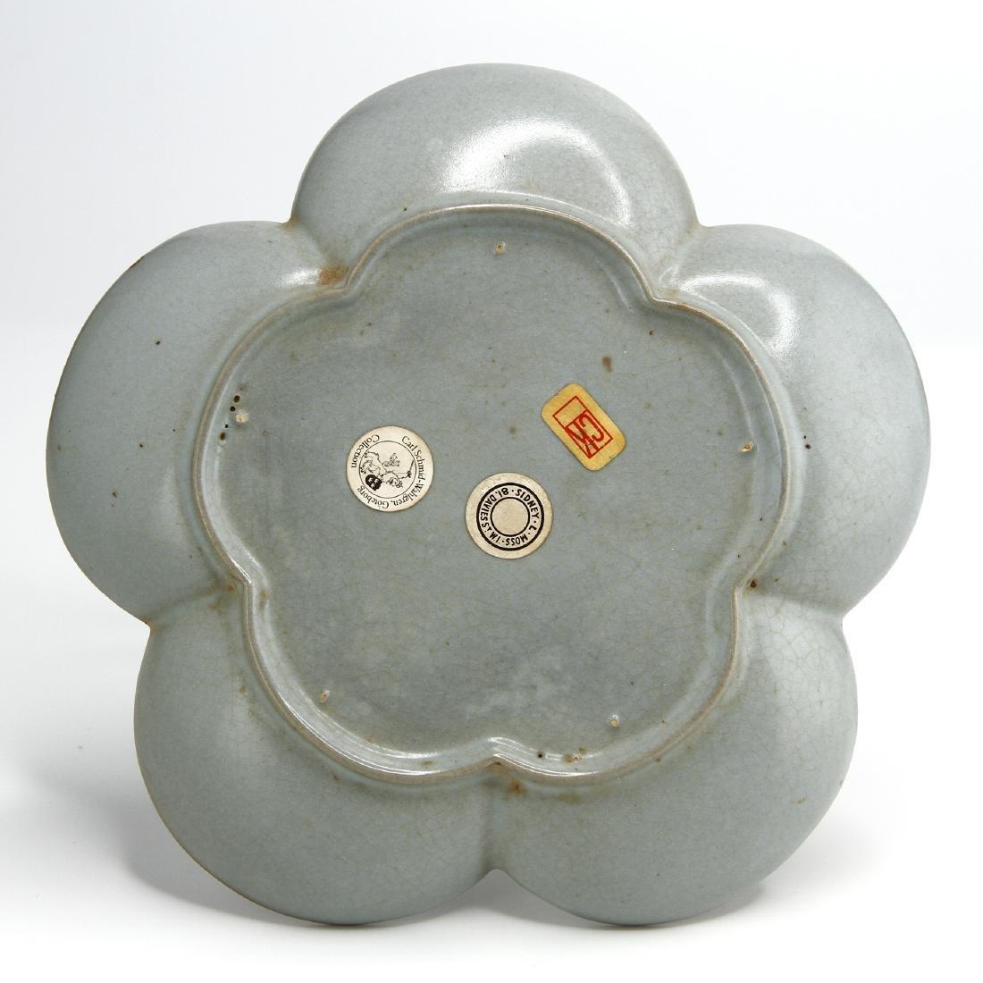 Rare Guan-Type Plum Floral Dish - 5