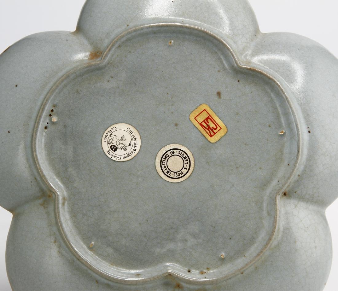 Rare Guan-Type Plum Floral Dish - 6