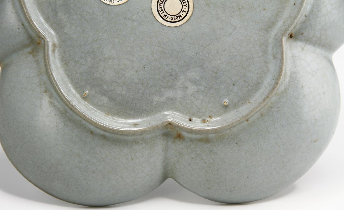 Rare Guan-Type Plum Floral Dish - 8
