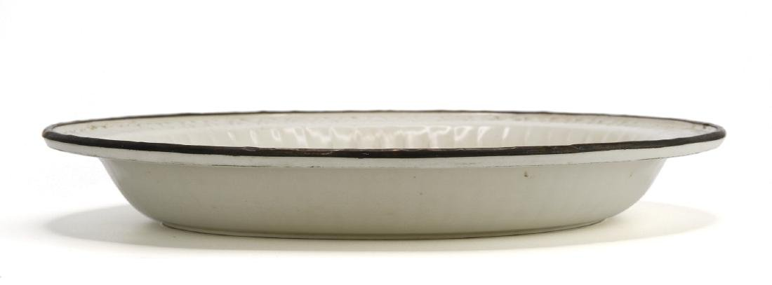 Large Carved Ting Peony Dish - 8