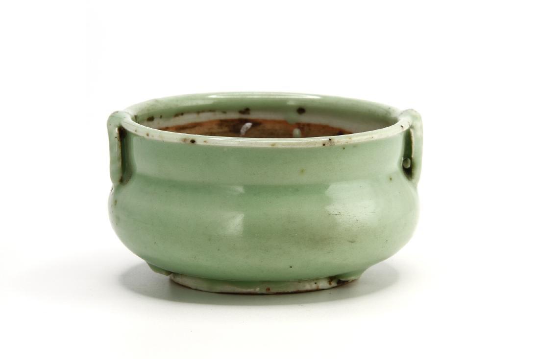 Celadon Glazed Censer - 3