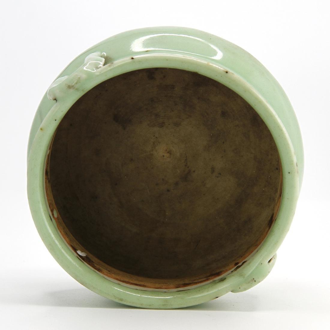 Celadon Glazed Censer - 6